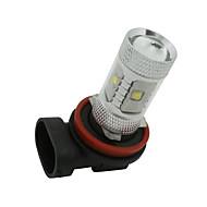 2 x h11 branco de alta potência 30w Lâmpadas LED DRL nevoeiro / condução luz lâmpada 12v-24v