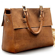 Women Tote Cowhide Casual Outdoor Brown