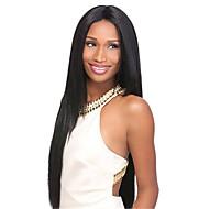 evawigs 10-26 pulgadas larga recta pelucas del frente del cordón del pelo humano del 100% de las pelucas de color negro densidad natural