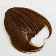 piękne ludzkie włosy w huk klip rozszerzeniami grzywką fringe 30g / szt naturalne ludzkie włosy darmo częścią huk 2 kolory