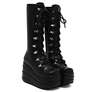 Women's Boots Spring / Summer / Fall / Winter Fashion Boots PU Casual Platform Others Black / White Others