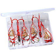4 IN 1 #8~#12 CARP Boob FISHING HOOKS POWDER BAIT Trap Hook SYSTEM New Design