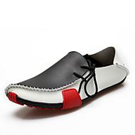 Masculino Mocassins e Slip-Ons Conforto Sapatos de mergulho Couro Primavera Outono Casual Caminhada Conforto Sapatos de mergulho Rasteiro