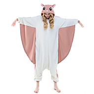 Kigurumi Pijamale Leotard/Onesie Festival/Sărbătoare Sleepwear Pentru Animale Halloween Roz Imprimeu Animale Lână polară Kigurumi Pentru