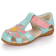 Nyitott orrú / Szandálok-Lapos-Női cipő-Szandálok-Alkalmi-Bőr-Kék / Rózsaszín / Fehér