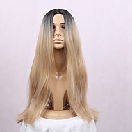 Women's Synthetic Wig Long Straight Hair Ombre 1B/Blonde Color Wig Heat Resistant Cospaly Wig