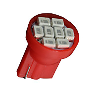 20 배 빨간 T10의 W5W 158 168 192 194 906 8 SMD LED 대시 속도계 악기 등