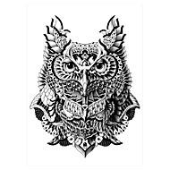 5 Tatuajes Adhesivos Series de Animal Non Toxic / Modelo / Parte Lumbar / WaterproofMujer / Hombre / Adulto flash de tatuajeLos tatuajes