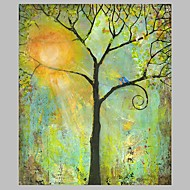 Green Tree Wall Art Canvas Paintings Handmade Stretchered Wall Art Home Decor R2H