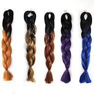 cosplay paruka barva chemických vláken cop Afričan černá paruka dva barevný gradient 22 palců 1ks