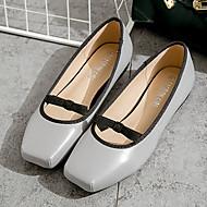 Women's Flats Fall Ballerina / Square Toe Pigskin Casual Flat Heel Bowknot Pink / Gray Others
