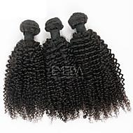 Ciocche a onde capelli veri Malese Kinky Curly 3 pezzi tesse capelli