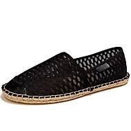 Unisex Flats Spring / Summer / Fall Espadrilles / Flats Tulle Athletic / Casual Flat Heel Black / White Sneaker