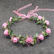 Women's Resin Headpiece-Wedding Wreaths 1 Piece Flower