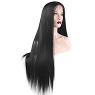 evawigs rechte kant voor pruik natuurlijk ogende Braziliaanse human hair pruiken 130% dichtheid medium bruin kant 16-26 inch