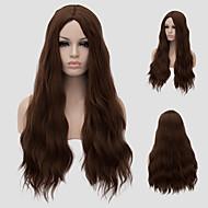 유럽 패션 핫 새로운 경사 앞머리 긴 곱슬 머리.