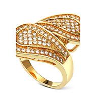 Unique Designed Women Deluxe Party Rings Cubic Zircon Lead Free Low Cadmium Bridal Wedding Fashion Brass Accessories