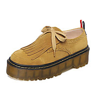Women's Loafers & Slip-Ons Spring / Fall / Winter Creepers Fleece Outdoor / Athletic Platform Tassel Walking