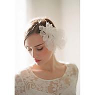 Vrouwen Tule / Licht Metaal / Polyester / Organza Helm-Bruiloft / Speciale gelegenheden / Informeel / BuitenBloemen / Haarclip /