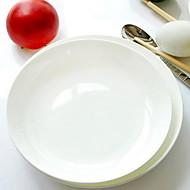 Tangshan kostní porcelán bílý talíř