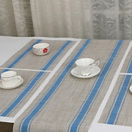Continental Striped Table Runner PVC Western Cuisine Table Mats Hotel Washable Mat (Random Color)