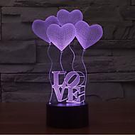 star wars szeretik kapcsolatot tompítása 3D LED éjszakai fény 7colorful dekoráció hangulat lámpa újdonság világítás karácsonyi fény