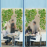 Window Film Window Decals Style Small Fresh Green Leaves Matte PVC Window Film - (60 x 58)cm