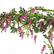 1 Une succursale Soie Violet Guirlande et Fleur Murale Fleurs artificielles 200CM