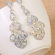 Rhinestone Simulated Diamond Fashion Statement Jewelry Bridal Luxury Jewelry Drop Jewelry Rainbow Jewelry Wedding Daily Casual 1 pair