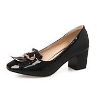 Women's Kitten Heels Solid Pull On Square Closed Toe Pumps-Shoes