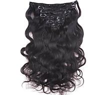 קליפ 120g 10inch-30inch בצבע תוספות שיער ברזילאי (# 1 # 1b 613) קליפ גל גוף ברחבות