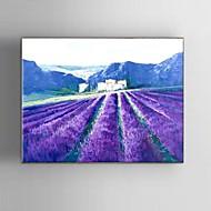 Pintados à mão Paisagem / Paisagens Abstratas / Fantasia Pinturas a óleo,Modern / Clássico / Pastoril / Estilo Europeu 1 Painel Tela