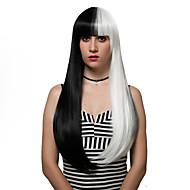 שיער ארוך שחור ולבן, פאות אופנה.