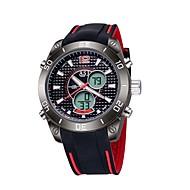Men's Sport Watch Digital / Japanese QuartzLCD / Compass / Calendar / Water Resistant/Water Proof / Dual Time Zones / Luminous /