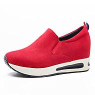 Women's Shoes Fleece Comfort Sneakers Outdoor / Office & Career / Dress Platform Gore Black / Red / Gray