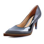נשים-עקבים-עור נאפה Leather-עקבים-כחול / אפור-שמלה-עקב סטילטו