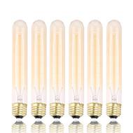 GMY 6pcs t30 edison lâmpada do vintage lâmpada 60w e26 / e27 decorar lâmpada 185 milímetros