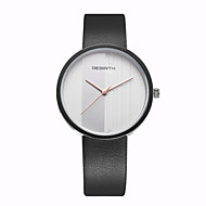 REBIRTH® Unisex Women's/Men's Watch Simple Fashion Dial PU Leather Strap Quartz Wrist Watch