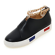 Women's Shoes Fall Wedges / Platform Flats Outdoor / Office & Career / Casual Platform Chain Black / White / Silver/2-2