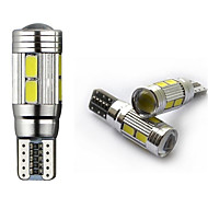 2pcs HRY® T10 10 SMD W5W 5630 LED CANBUS ERROR FREE Car Side Wedge Lights White & Ice Blue