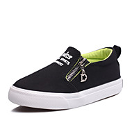 Boys' Shoes Outdoor / Athletic / Casual Canvas Flats Spring / Summer / Fall Comfort / Round Toe /  Zipper / ChainBlack /