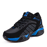 Women's Men's Sneakers Spring Fall Comfort Faux Suede Athletic Flat Heel Lace-up Blue Red Basketball