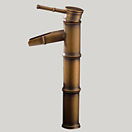 Art Deco / Retro Nadgradni umivaonik Waterfall with  Keramičke ventila Jedan Ručka jedna rupa for  Antique Brass , Kupaonica Sudoper pipa