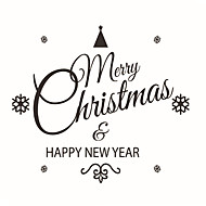 Wall Stickers Wall Decals Style Christmas Decoration PVC Wall Stickers