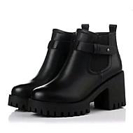 נשים-מגפיים-דמוי עור-קריפרס / מגפי צבא-שחור / אפור-שטח / קז'ואל-פלטפורמה