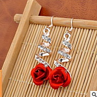 Drop Earrings Sexy Bikini Fashion Adorable Alloy Flower Jewelry Red Jewelry For Wedding Party Daily Casual 1 pair