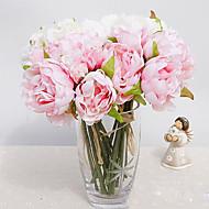 1 1 Tak Polyester / Kunststof Pioenen Bloemen voor op tafel Kunstbloemen 12.9inch/33cm