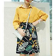 Women's Print White / Black / Brown Skirts,Cute Knee-length
