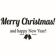 Wall Stickers Wall Decals Style Christmas Small Bell PVC Wall Stickers