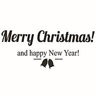 samolepky na zeď zeď obtisky styl vánočního malý zvon samolepky z PVC stěnové